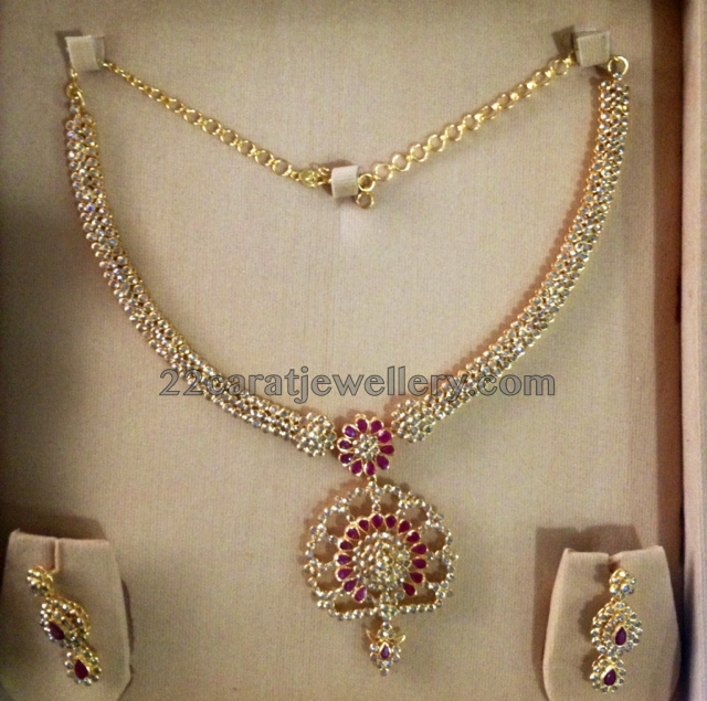 Fancy Necklace with Chakri Diamonds