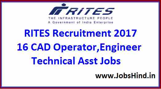RITES Recruitment 2017