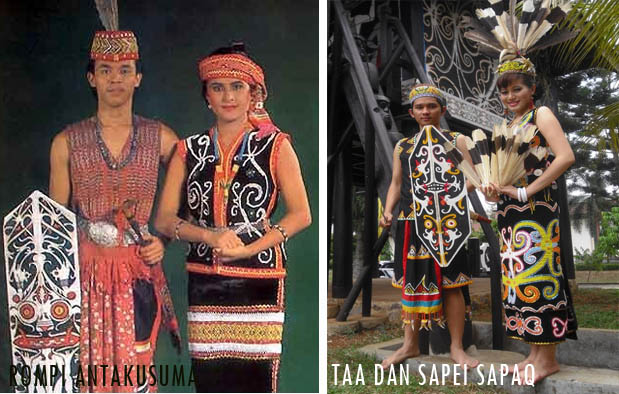 Pakaian Adat Kalimantan Timur suku Dayak dan Kutai beserta Penjelasannya