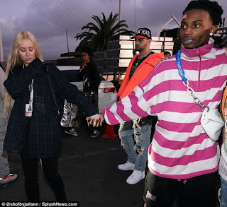 American hip-hop artist, Playboi Carti, 22, spotted with Australian female  rapper, Iggy Azalea, 28 at Rolling Loud Festival in Los Angeles Sunday.   See full photos below.