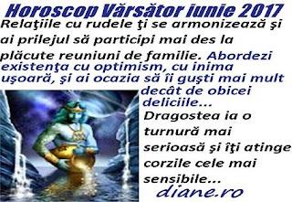 Horoscop iunie 2017 Vărsător