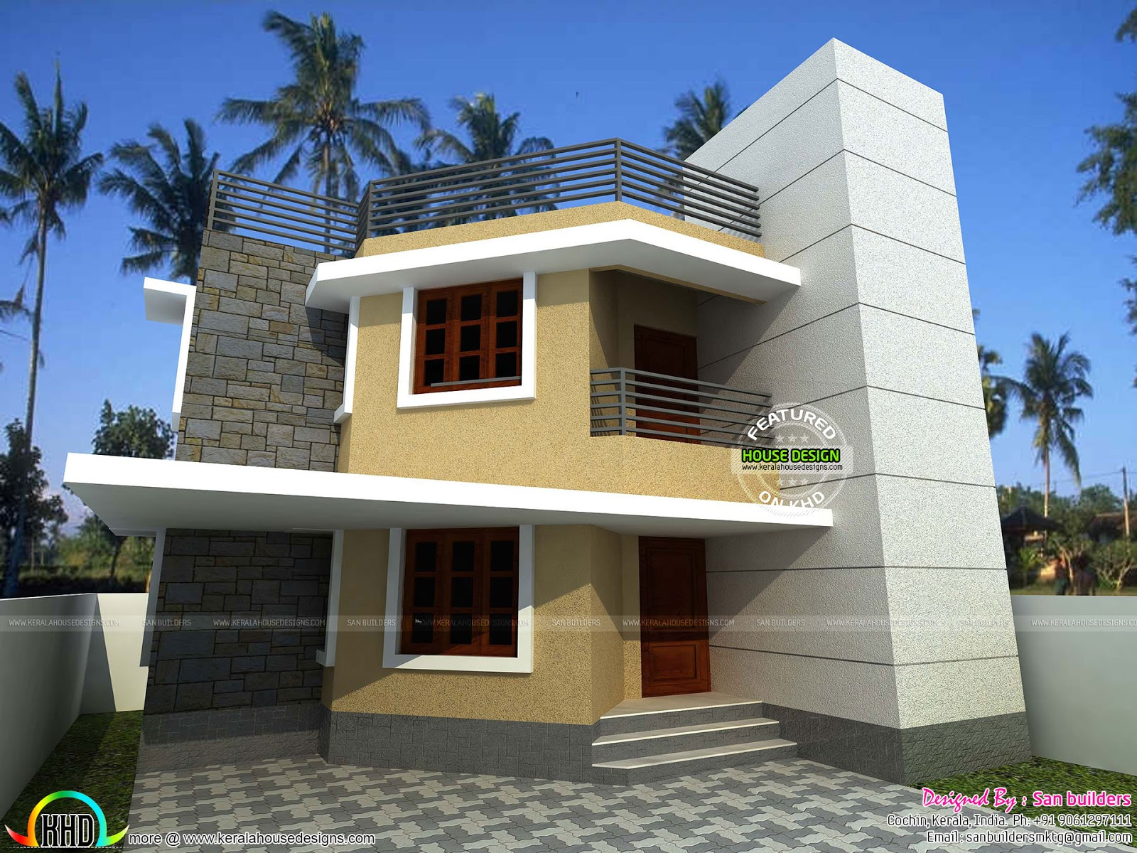 sq ft house cents kerala home design floor plans sq ft house provision stair future expansion home