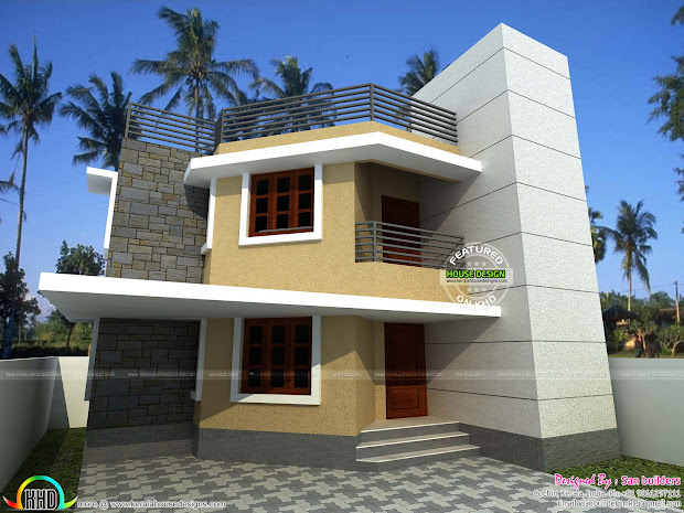 1500 Sq.ft House In 3 Cents - Kerala Home Design And Floor