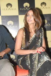 Ileana Cute In Saree Photo Stills