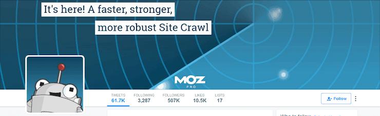 Moz Twitter profile