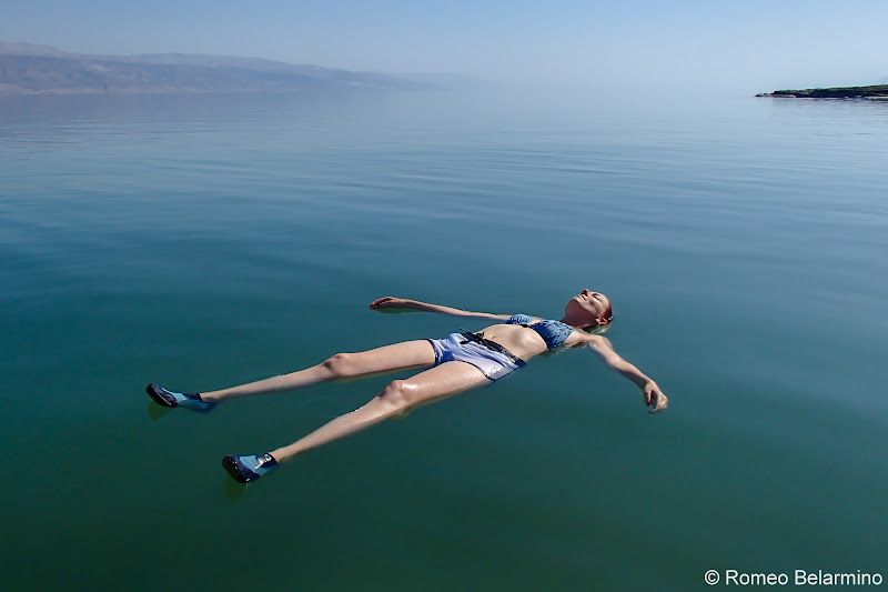 Katherine Floating in the Dead Sea and Tips Israel