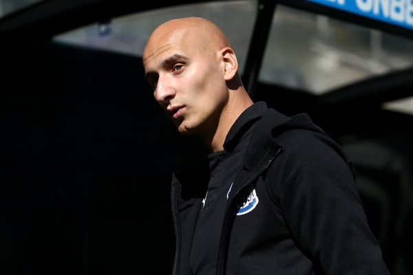 Jonjo Shelvey of Newcastle United arrives ahead of the Premier League match between Newcastle United and Tottenham Hotspur at St. James Park on August 11, 2018 in Newcastle upon Tyne, United Kingdom