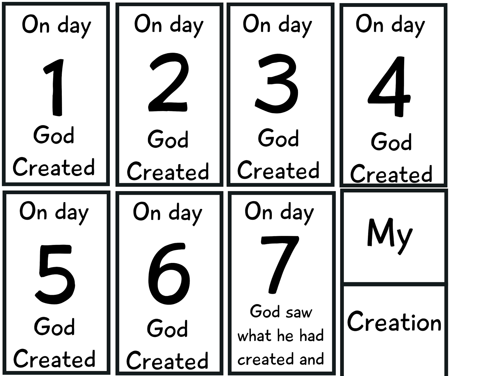 The Crazy Pre K Classroom The Story Of Creation Flip Book Freebie
