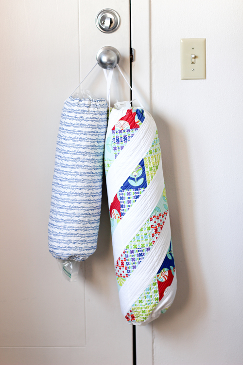 http://www.incolororder.com/2013/03/quilted-grocery-bag-holder-tutorial.html