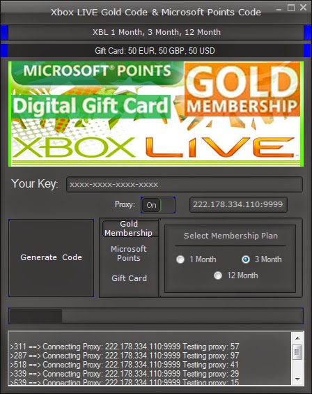 free xbox live gift card generator