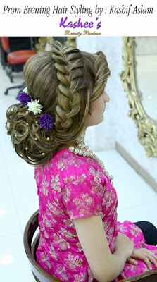 Attractive Images of Kashees makeup and hairstyle for brides
