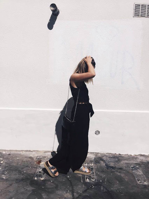 look black noir zara pull&bear asos shop shopping clothes ootd outfit photo women style fashion summer day jour blog lifestyle mode tendance