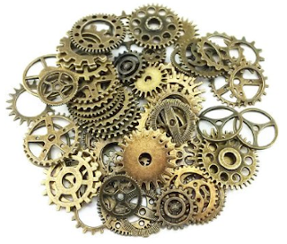 Gears Cogs sprockets for steampunk costume fashion cosplay tutorial