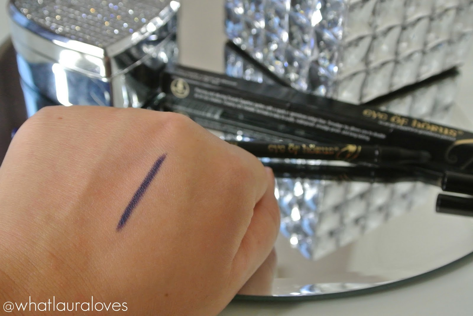 Eye of Horus Scarab Sapphire Goddess Pencil Review Indigo Eye Pencil Swatch