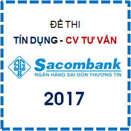 Thi thử 8 đề trắc nghiệm Tín dụng - Chuyên viên Tư vấn Sacombank 2017 (Kèm Đáp án)