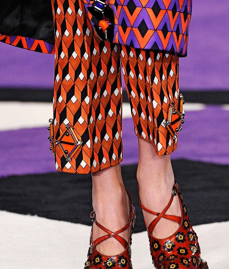 35c2e25d2cdd0 Fashion   Lifestyle  Prada Geometric Print Pants... Fall 2012 Womenswear