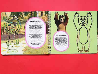 masza i niedźwiedź, książka z szablonami