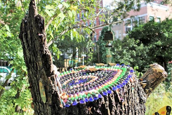 En läcker trädgård i East Village