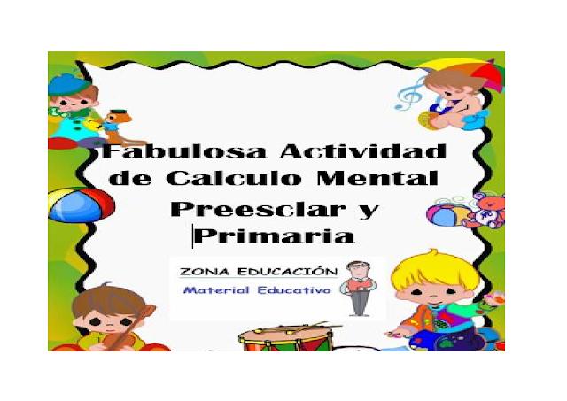dinamicas,juegos,matematicas,calculo mental, primaria,preescolar