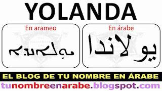 Yolanda en arameo para tatuajes