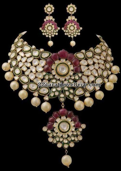 Heavy Kundan Choker with Enamel Paint