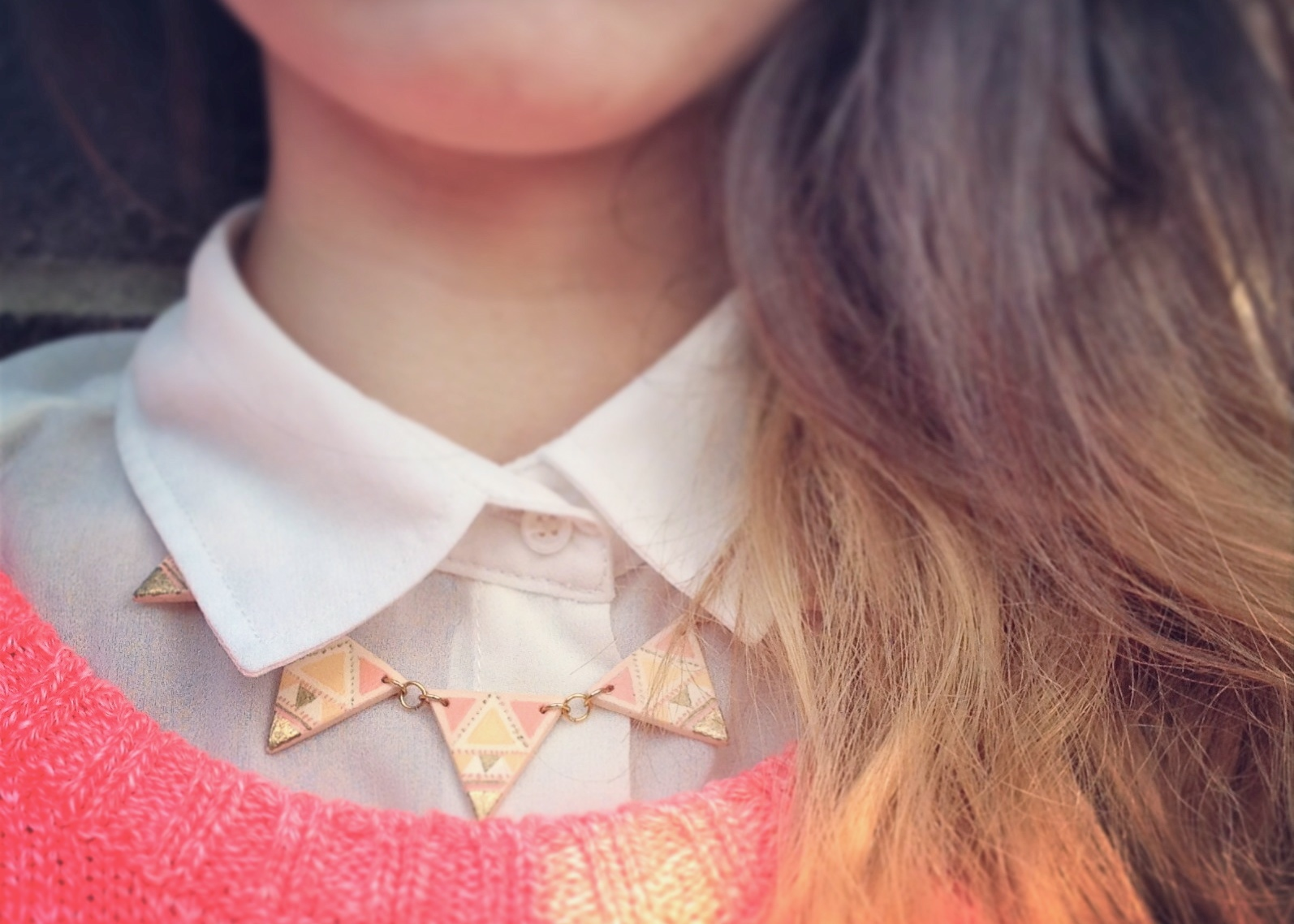 DIY Bunting Aztec Necklace Clay by Isoscella
