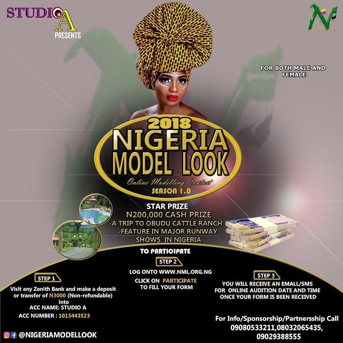 The 2018 Nigeria Model look Registration is on !!!