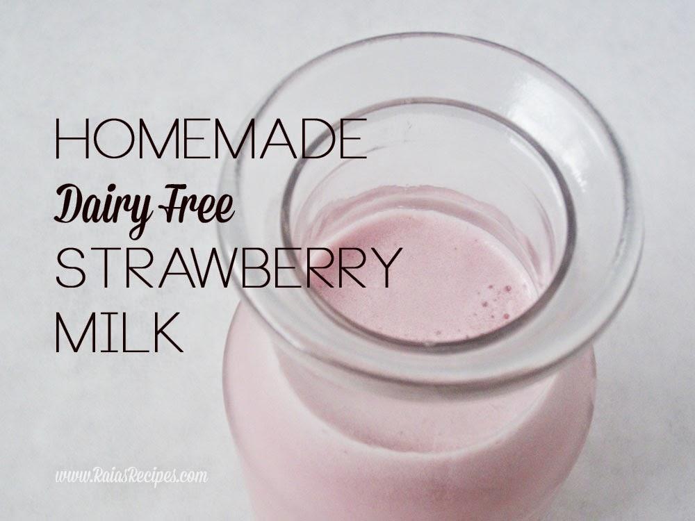 Homemade Strawberry Milk | grain, dairy, sugar free | www.RaiasRecipes.com