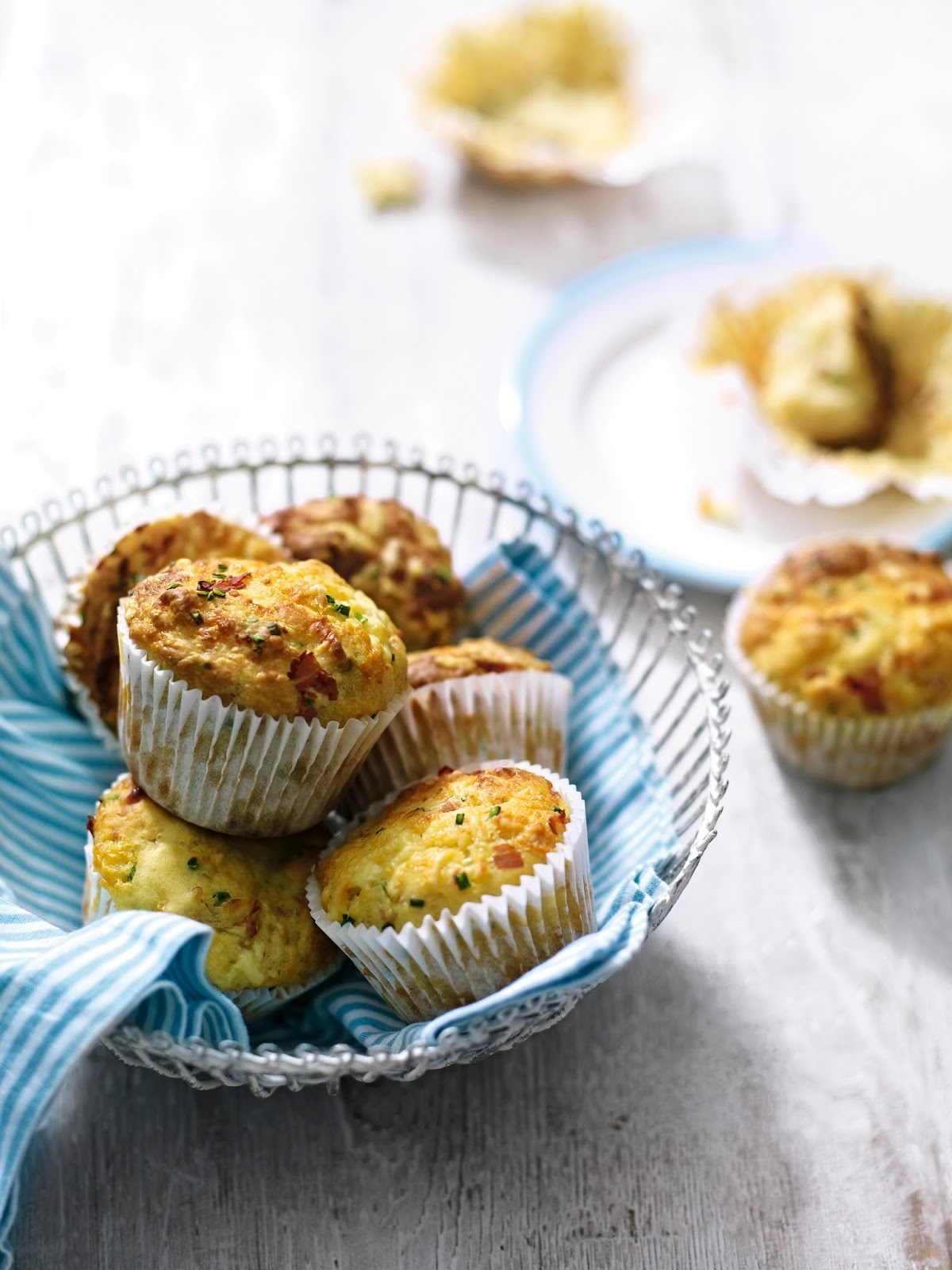Cheddar, Chive And Ham Muffins..