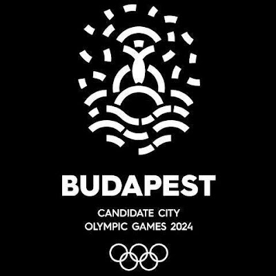 Budapest 2024 black and white logo
