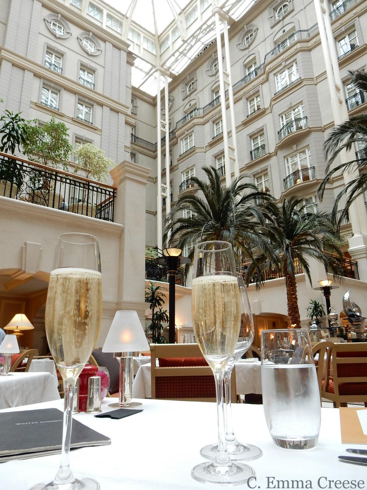 winter garden at the landmark hotel restaurant review adventures