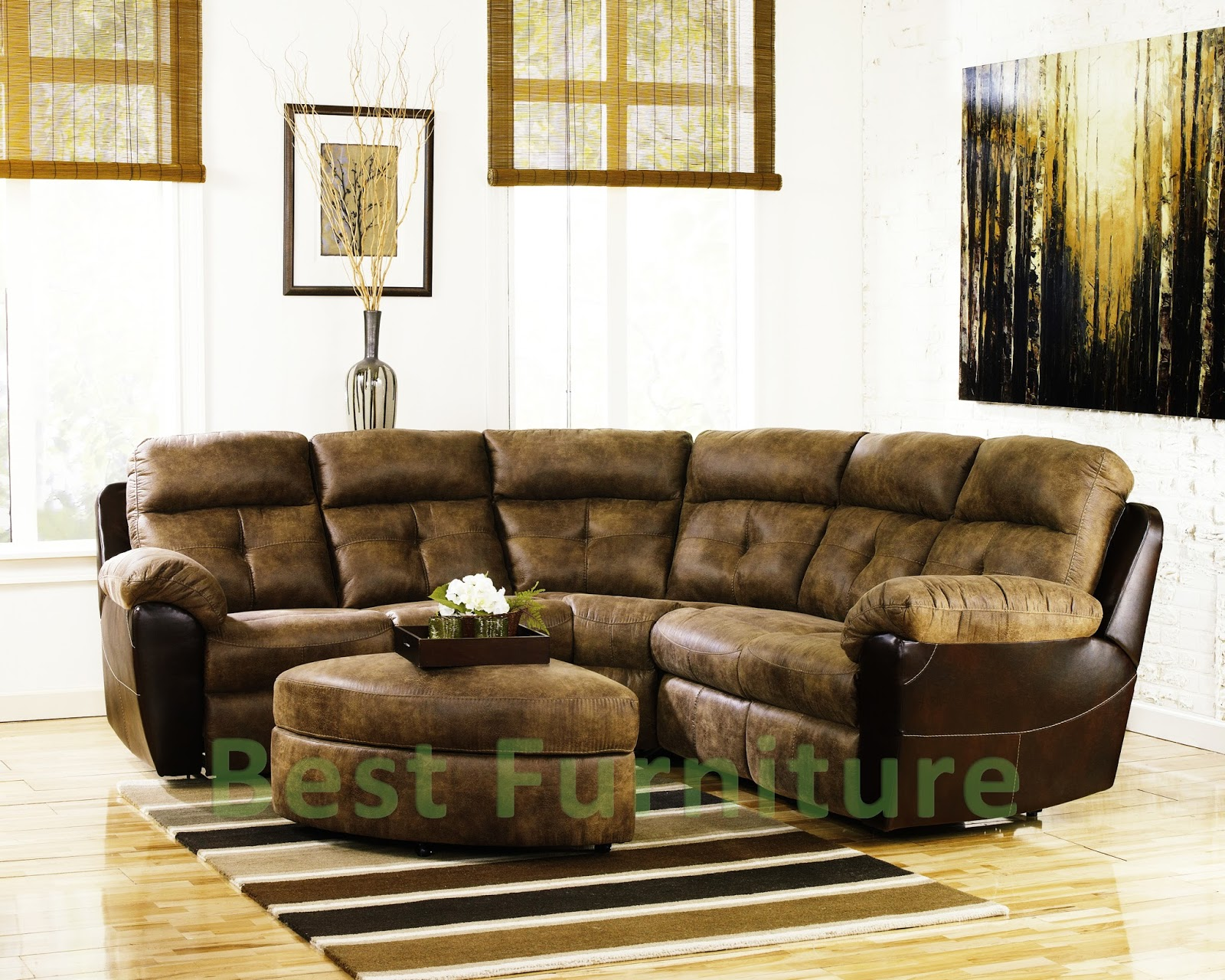 Alessia leather sectional sofa 2 piece chaise   Best Furniture