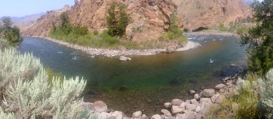 Devil's Elbow on the North Fork Shoshone River Wyoming