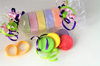 These charming Sweetie Tarts bubbly and moisturizing bath bombs will remind you of a favorite candy from the past!