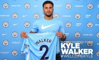 Manchester City Resmi Transfer Kyle Walker dari Tottenham Hotspur