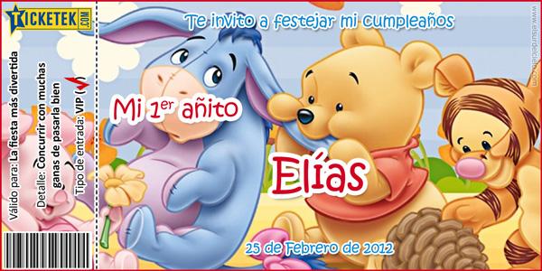 Tarjetas De Invitación De Winnie Pooh Bebé Imagui