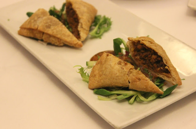 A picture of Chutney Ivy Leicester Crispy Duck Samosa Starter