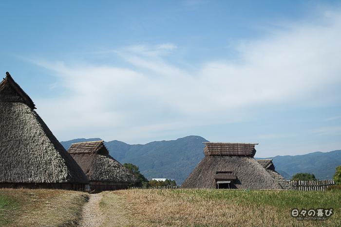 Nakanomura vue depuis la route, parc Yoshinogari, Saga