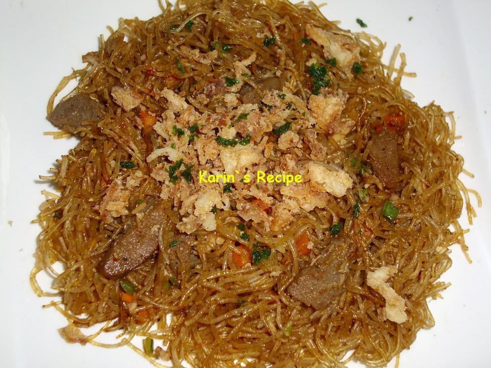 Karin's Recipe: Bihun Goreng (Fried Rice Noodle)
