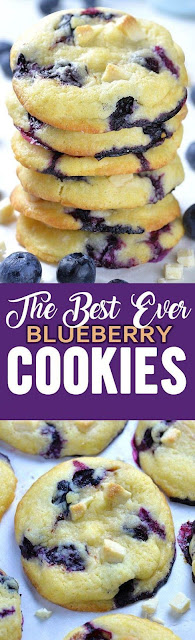 The Best Ever Blueberry Cookies