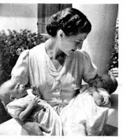 Isabelle, comtesse de Paris et ses fils les princes Jacques et Michel