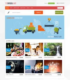 Offers Cart Reverse Auction Joomla Template