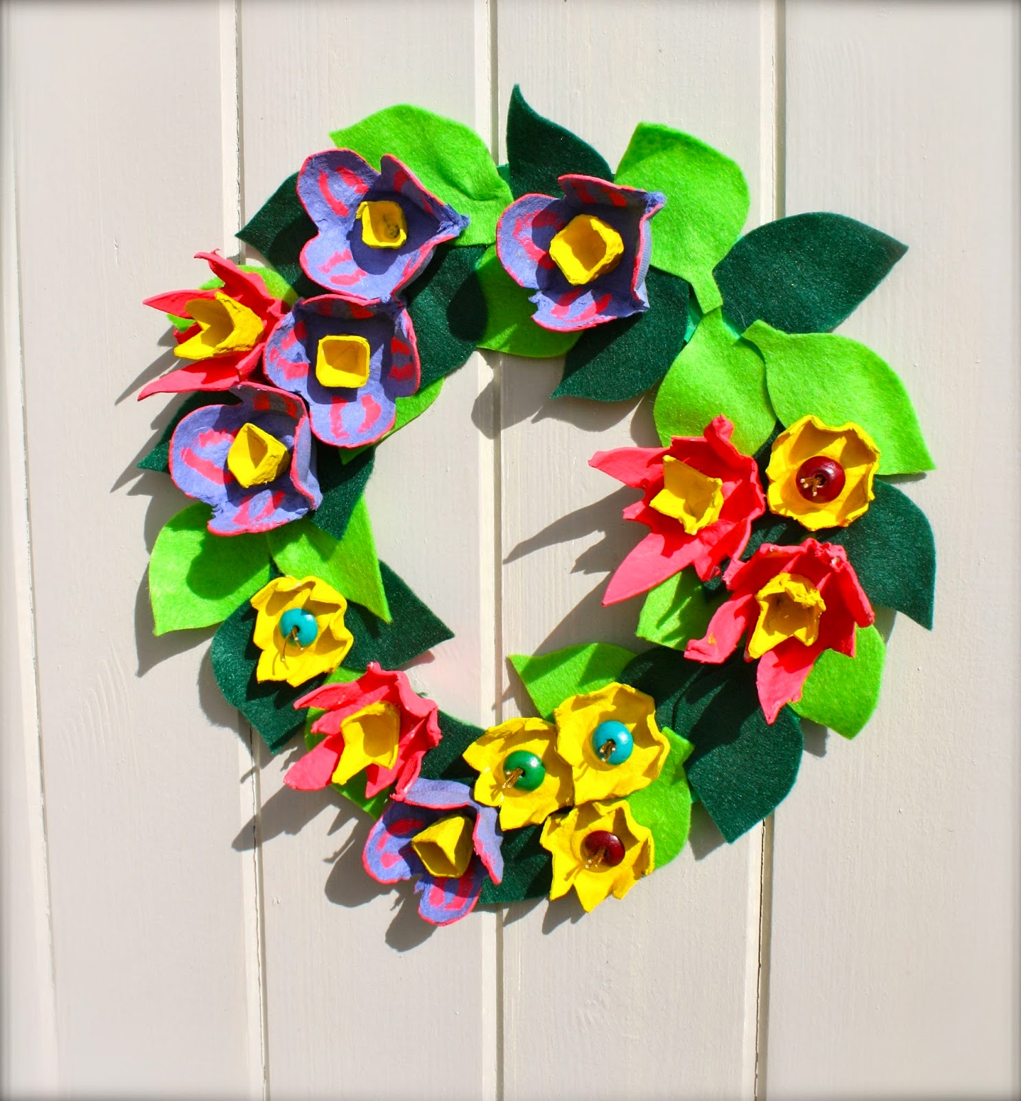 egg box easter wreath