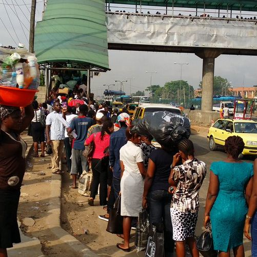 Ojota pedestrian bridge attract Massive queue as government enforces usage