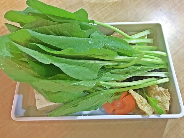 沐也日式涮涮鍋素食菜盤