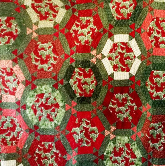 Barbara Brackman's MATERIAL CULTURE: Framed Hexagon Sets