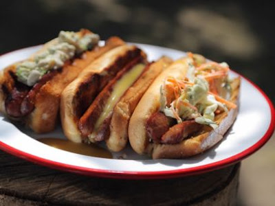 http://www.foodnetwork.com/recipes/daphne-brogdon/split-hot-dogs-with-butter-toasted-buns-and-homemade-toppings.html