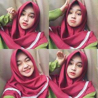Angel Lisandi Putri Pakai Hijab Merah