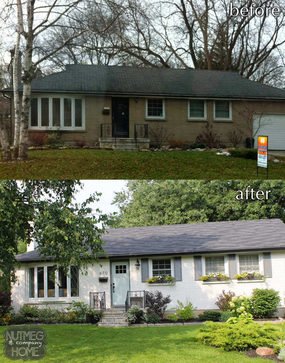 Nutmeg & Company Home: Before & After: Curb Appeal