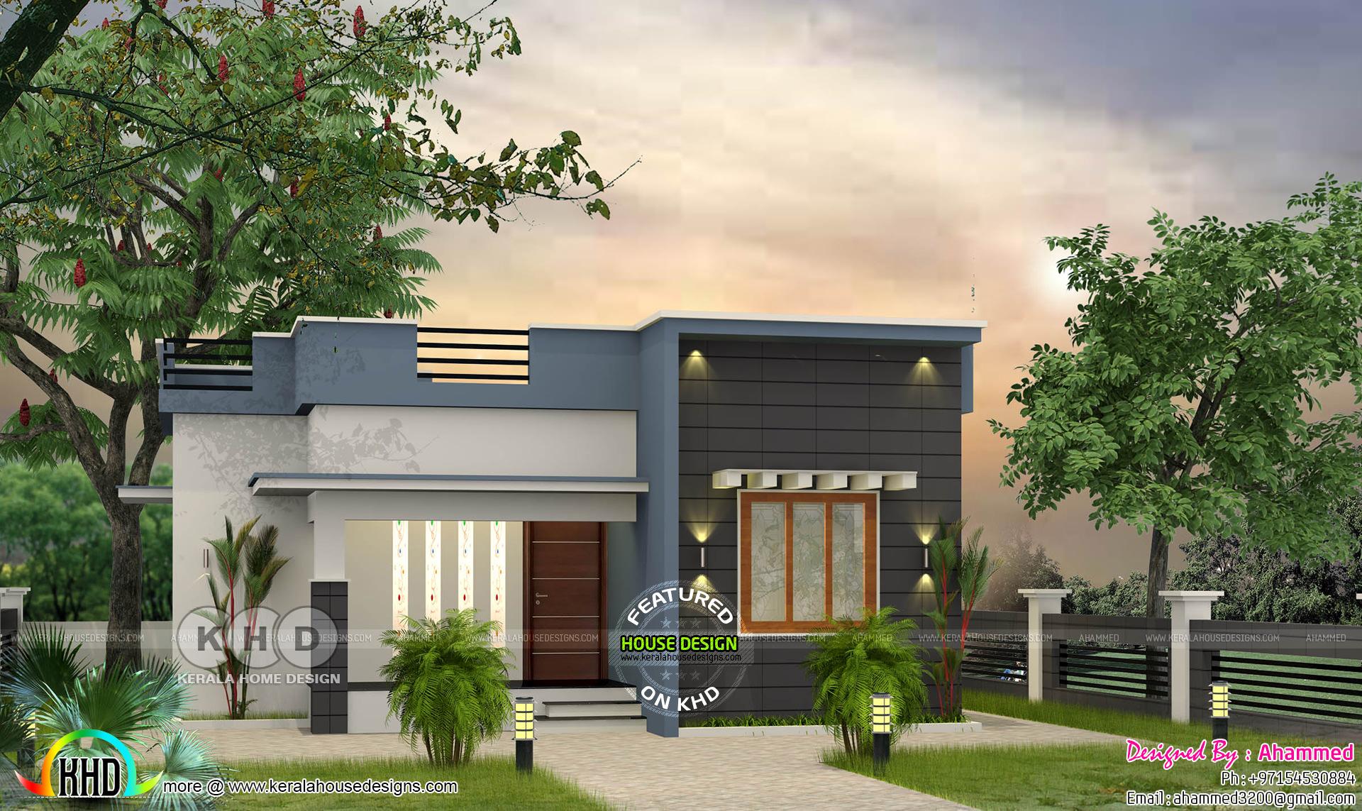 Low budget flat roof 2 bedroom house 700 sqft  Kerala